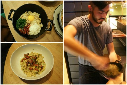 Nonna's Carbonara: tossed tableside