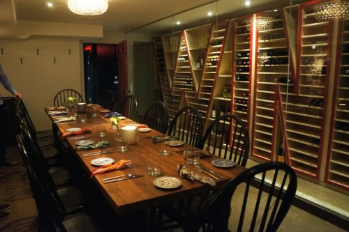 The private dining room in the basement