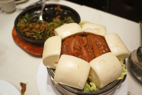 Steamed Pork Slices dressed with Sticky Rice