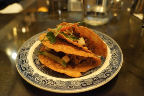 Roast Duck and Scallion Tacos