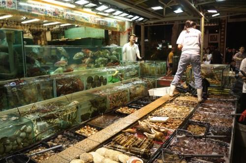 More tanks of seafood