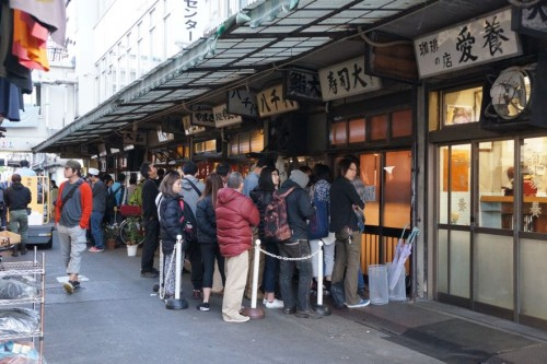 Sushi Dai: The first part of the line where only the first 15 or so people are allowed to queue