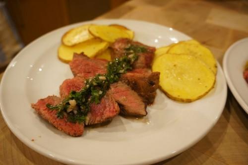 Steak and Garlic Herb Sauce