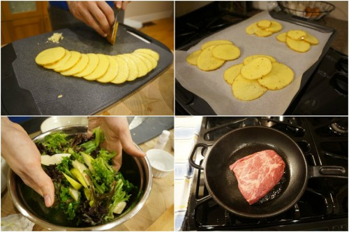 Following the step-by-step recipe