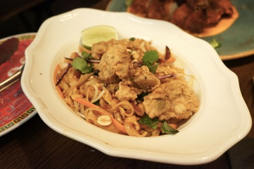 Crispy Oyster & Bacon Pad Thai