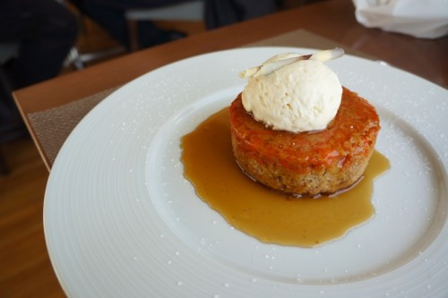 Carrot Halva Upside Down Cake