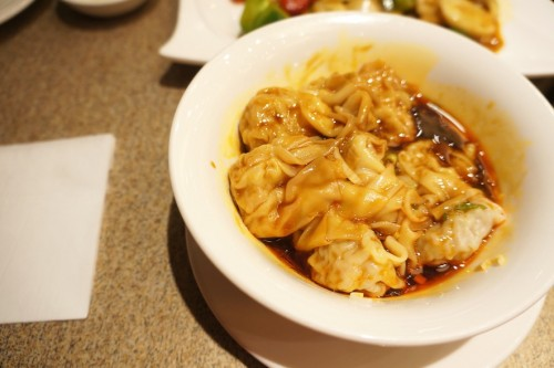 Shanghai Small Wontons with Spicy Sauce