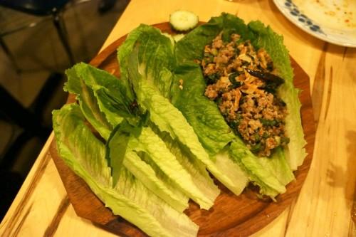Laap Lao Minced Pork Lettuce Wrap