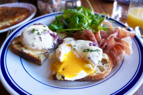 Red Wine Poached Eggs
