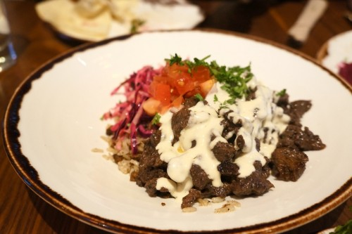 Beef Shawarma over Rice